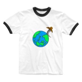 世界平和 Ringer T-shirts
