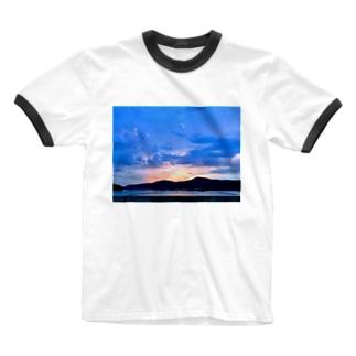 あのまちと、ゆうやけ Ringer T-shirts