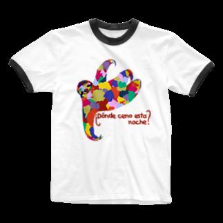 meiroのナマケモノ Ringer T-shirts
