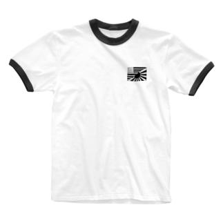 アメリカ日章旗 Ringer T-shirts