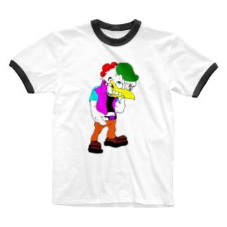 ★鳥人★ Ringer T-shirts