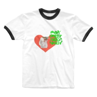 happy charmmy lucky wholly ガーリーおんなのこ Ringer T-shirts