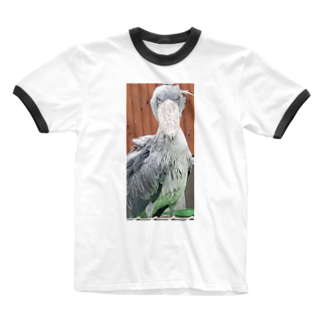 alpha8110のハシビロコウさん Ringer T-shirts