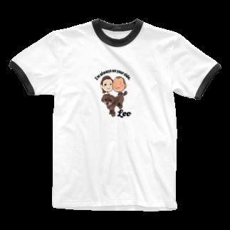 昭広 中里のLeo Ringer T-shirts
