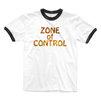 BE UPWARDのZONE OF CONTROL Ringer T-shirts