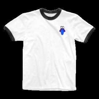 _m1ra1の青ざめた舌 Ringer T-shirts
