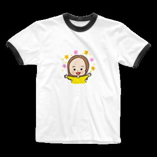 おで子、前を向け!/おで子ヒカル👨🏻🦲のおでこヒカルちゃん 喜びモード Ringer T-shirts