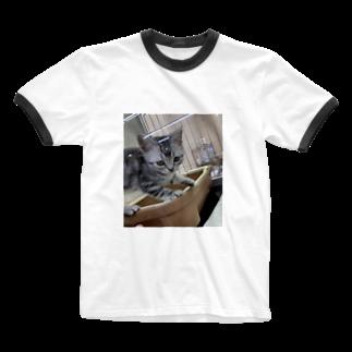 ayakaのCat Ringer T-shirts
