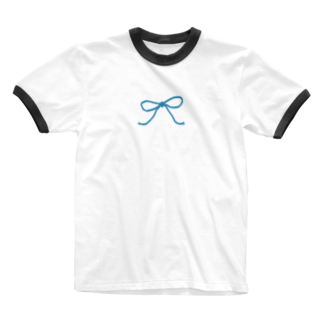 kirin.boutiqueの青いリボン Ringer T-shirts