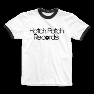 前田創作工房のHotch Potch Records(黒) Ringer T-shirts