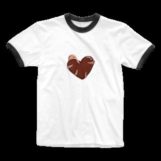 そゆことのハートを抱くタコ Ringer T-shirts