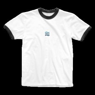 jpnblueのなみblue Ringer T-shirts
