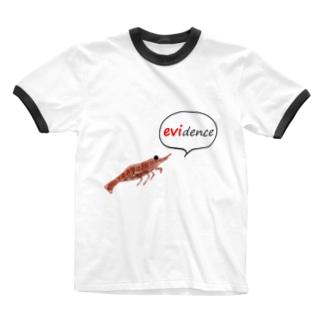 エビデンスをのこして Ringer T-shirts