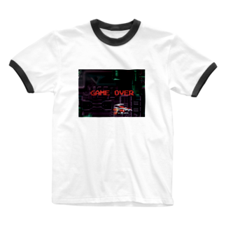 MのGAME OVER  Ringer T-shirts