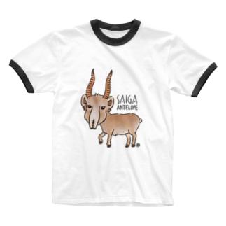 サイガくん Saiga Antelope Ringer T-shirts