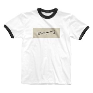 黒髪長髪 Ringer T-shirts