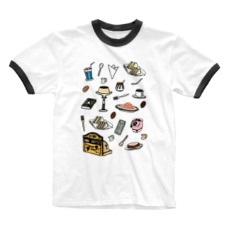 純喫茶 いろどり Ringer T-shirts