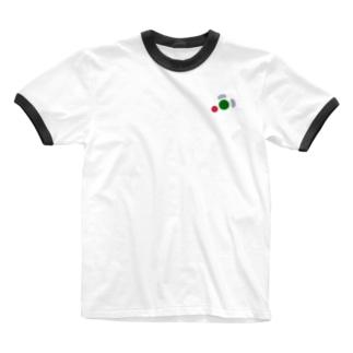 4ボタン Ringer T-shirts