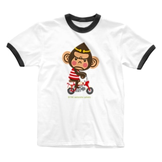 """ドングリ頭のチンパンジー""""Monkey"""" Ringer T-shirts"""