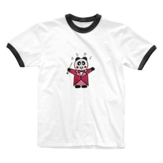 指揮するパンダちゃん Ringer T-shirts
