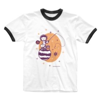 Astronauts - Fishing Ringer T-shirts