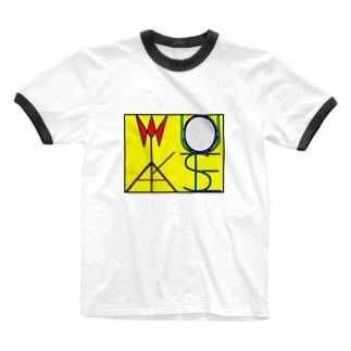 松明と鏡 色付きver Ringer T-shirts
