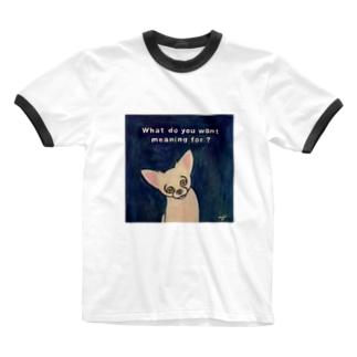まるめのチワワのmojo Ringer T-shirts