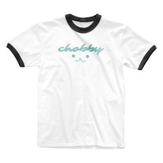 ウサギのchobby. Ringer T-shirts