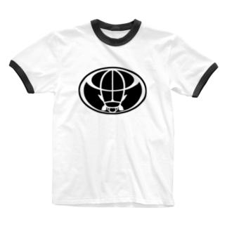 ゲンゴロウ(BLACK) Ringer T-shirts