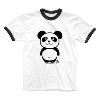 かわいいでべそパンダ Ringer T-shirts