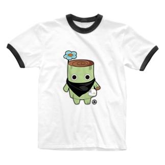 切り株のはなくん Ringer T-shirts