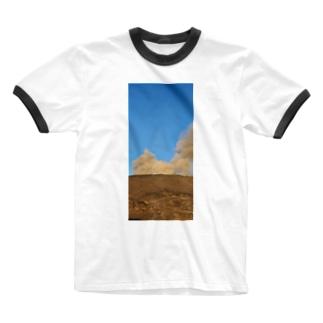 阿蘇山 Ringer T-shirts