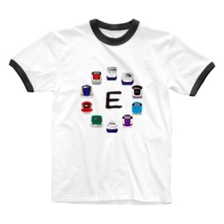 E1系新幹線からE7系新幹線まで詰め合わせ Ringer T-shirts