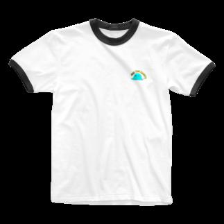 ema ショップの癒し 謎の生物 ロゴ ARE YOU HAPPY? Ringer T-shirts