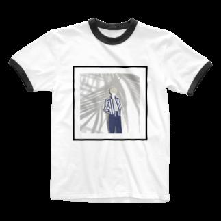 OCHIYASのsummer boy Ringer T-shirts