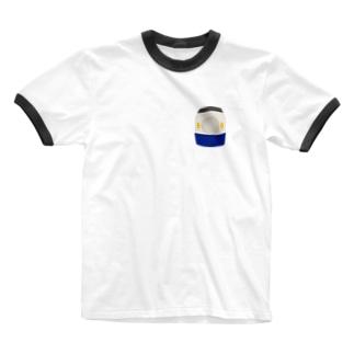 東海道0系 胸ワンポイント Ringer T-shirts