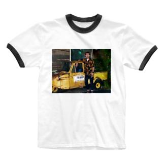 昭和村ふみなおTシャツ Ringer T-shirts