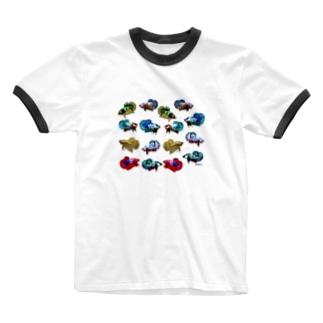 ショーベタ プラカット Ringer T-shirts