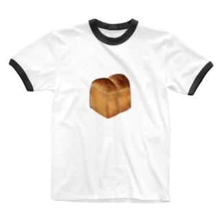 食パン Ringer T-shirts