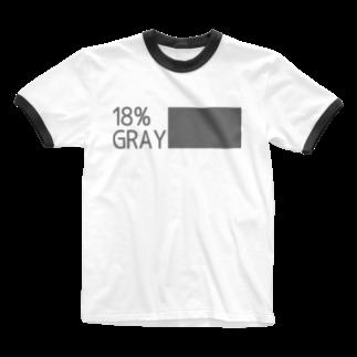 b20_JPNの18%gray (rgb119) GR Letter Ringer T-shirts
