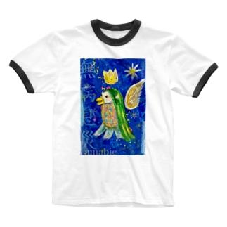無病息災アマビエ君 Ringer T-shirts