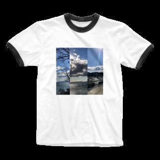 Pakiraの春の景色 Ringer T-shirts