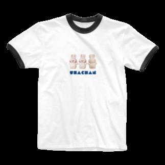 ときめきストアのうさちゃんズ Ringer T-shirts