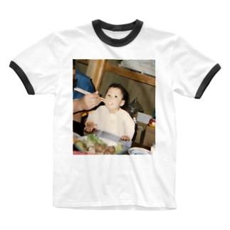 昔懐かしマナティの。 Ringer T-shirts