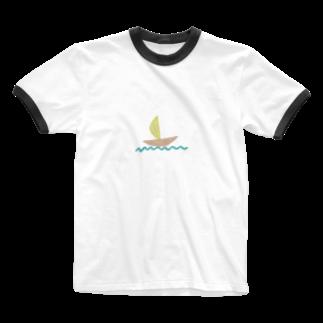 Atomatomのヨット Ringer T-shirts