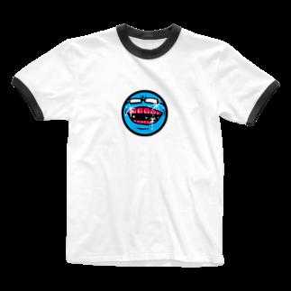 ぼんだぁのメガネくん Ringer T-shirts