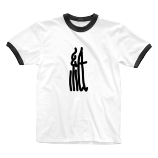 謎モノ店の細長紙 Ringer T-shirts