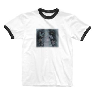 レントゲン透かし Ringer T-shirts