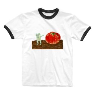 とまとをじまん かえる Ringer T-shirts