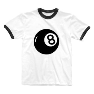 はち玉 Ringer T-shirts
